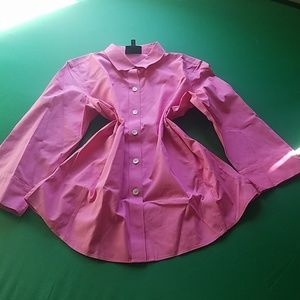 FOX CROFY T-SHIRT BUTTON IN FRONT PINK COLO